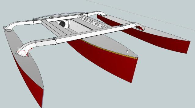 jonny salme: Folding trimaran plans